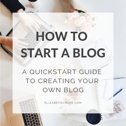 A Graphic with the text 'How to start a blog: A quickstart guide to creating your own blog'